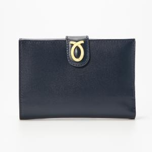 財布 14cm Navy Beige | New Logo Yen Purse ネイビー ベージュ