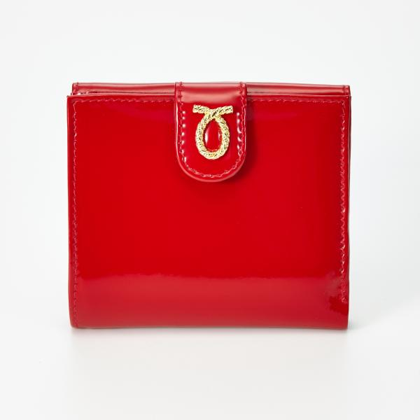 財布 11cm Red | Rope Logo Purse レッドエナメル